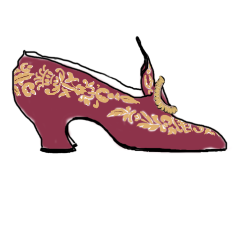 Embroidered Old Fashioned Shoe